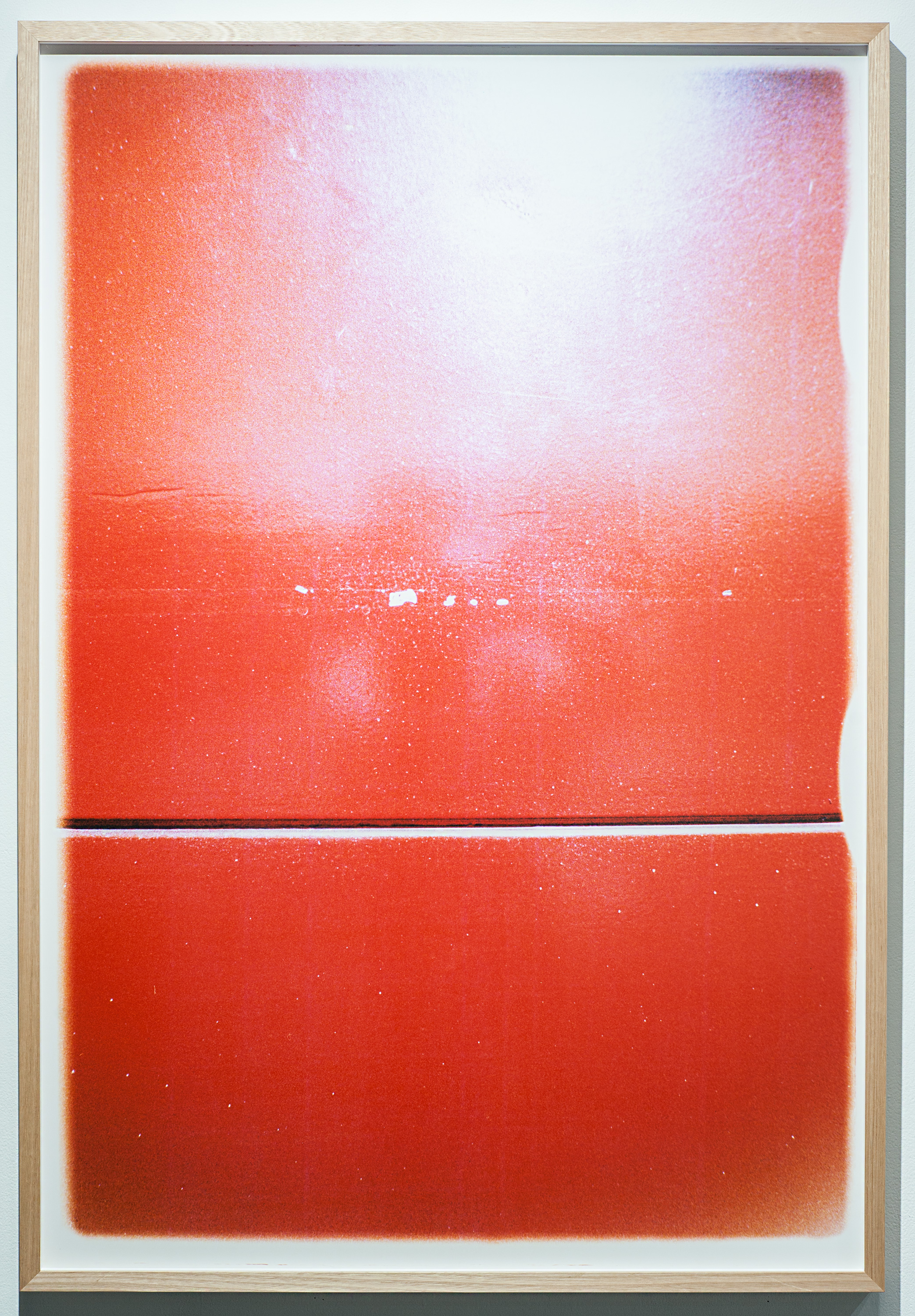 Untitled Red   hand printed c type colour analogue photograph  142 x 99cm  2016