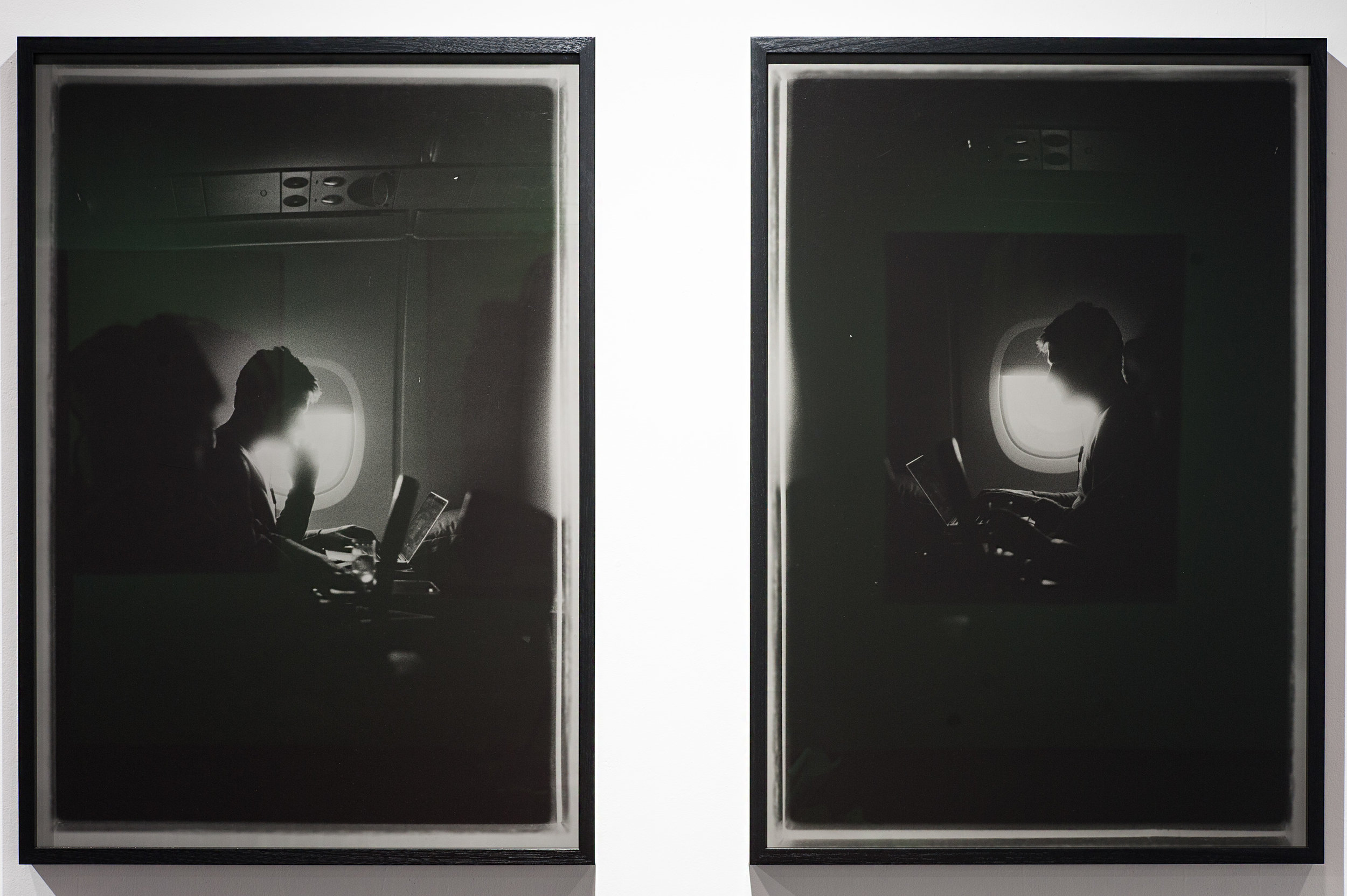 Drift 1  hand printed silver gelatin fogged black and white photograph 121 x 83cm 2015   Drift 2  hand printed silver gelatin fogged black and white photograph 121 x 83cm 2015