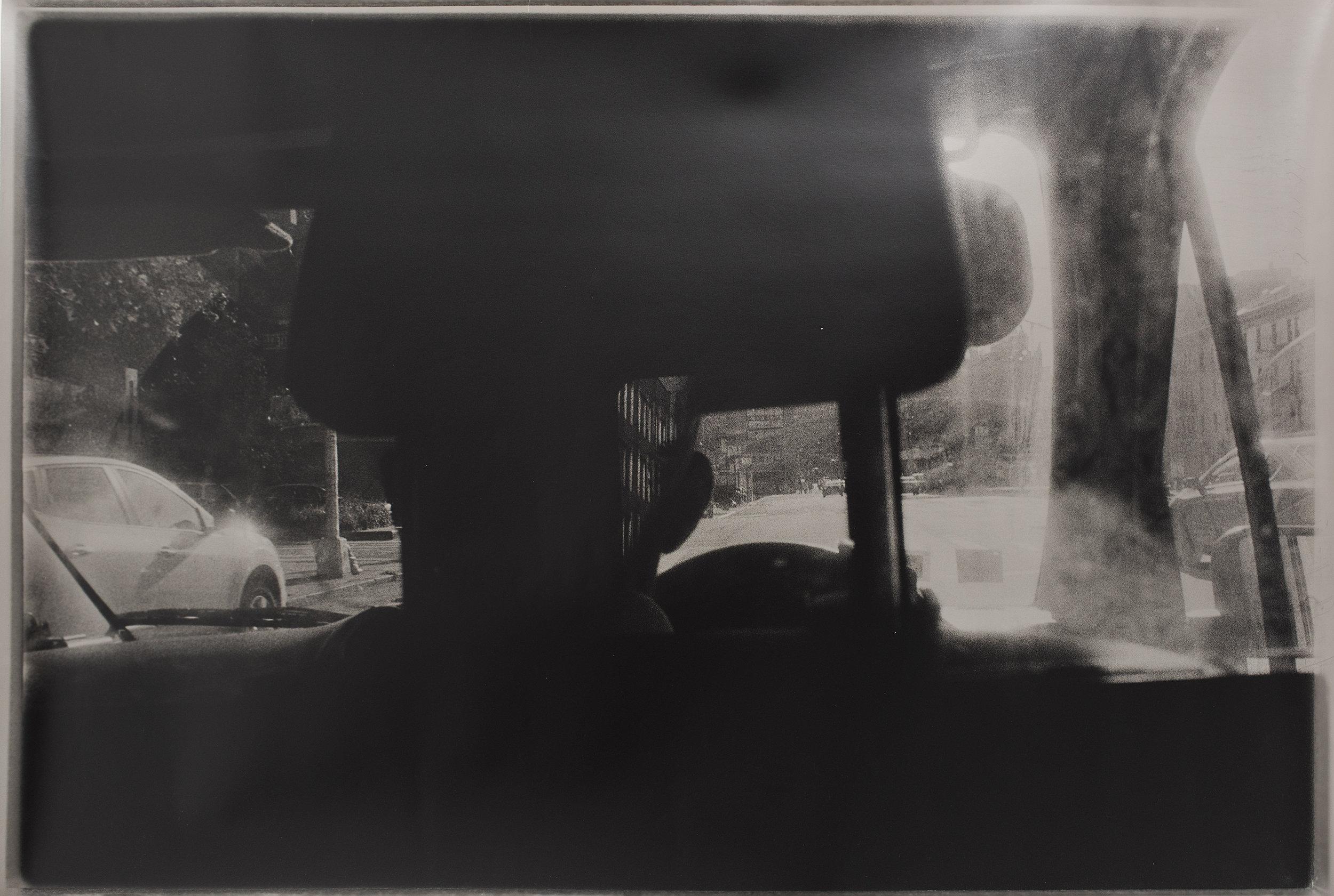 Navigation 1   hand printed silver gelatin fogged black and white photograph  160 x 80cm  2015