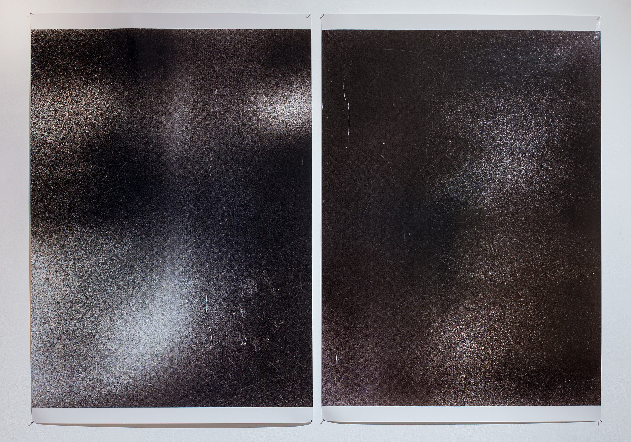Disintegrated Surface 1  Hand printed c type colour analogue photographic print 137 x 100cm 2018   Disintegrated Surface 2  Hand printed c type colour analogue photographic print 137 x 100cm 2018