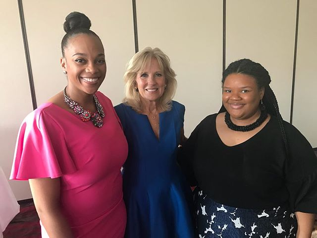 Our Founder, Courtney Grady and Mentor Director, Ivy Williams had the pleasure of sharing Unique Sisters with Dr. Jill Biden this evening. Such an amazing opportunity!! #myuniquesisters #sisterhood #mentorship #detroit #michigan #reachfortheworld