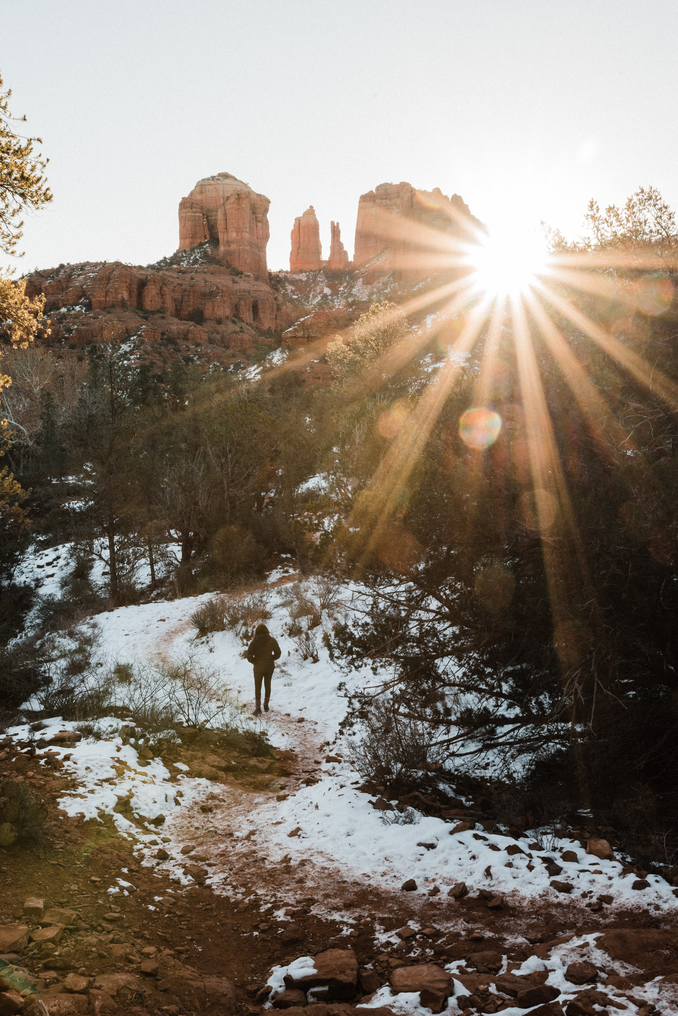 Tanner Burge Photography, Sedona Arizona, The Grand Canyon, Page AZ, Travel Blog, Adventure Photography, Snowy Landscapes, Winter in the Desert, Winter at the Grand Canyon, Grand Canyon Travel Guide, Sedona Travel Guide, Page AZ Travel Guide,  National Park Photography, South Rim of the Grand Canyon, Snow at the Grand Canyon, Snow In Arizona, Arizona Hiking, Red Rocks State Park, Cathedral Rocks Trail, Cathedral Rocks Sunrise