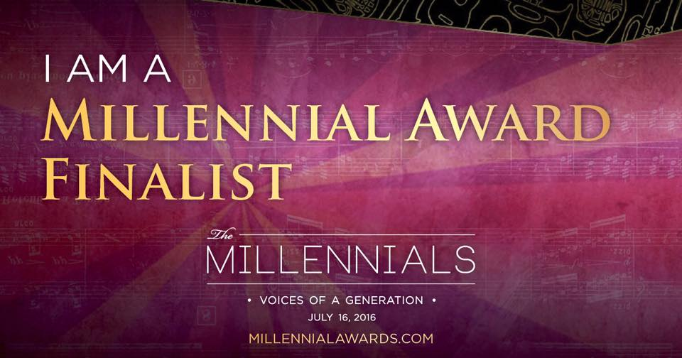 "The Millennial awards, are a series of awards handed to young professionals who are thriving in their respected fields... This year I was not only nominated, but I have made it to finals. It may seem simple to most, but this time last year I wouldn't have even been considered. More than anything, I have learned to appreciate you Journey, just as much as the destination. Its amazing to just be apart of this progress that I am making. I am so thankful... Hopefully after this weekend I can changes the words finalist to ""winner"""