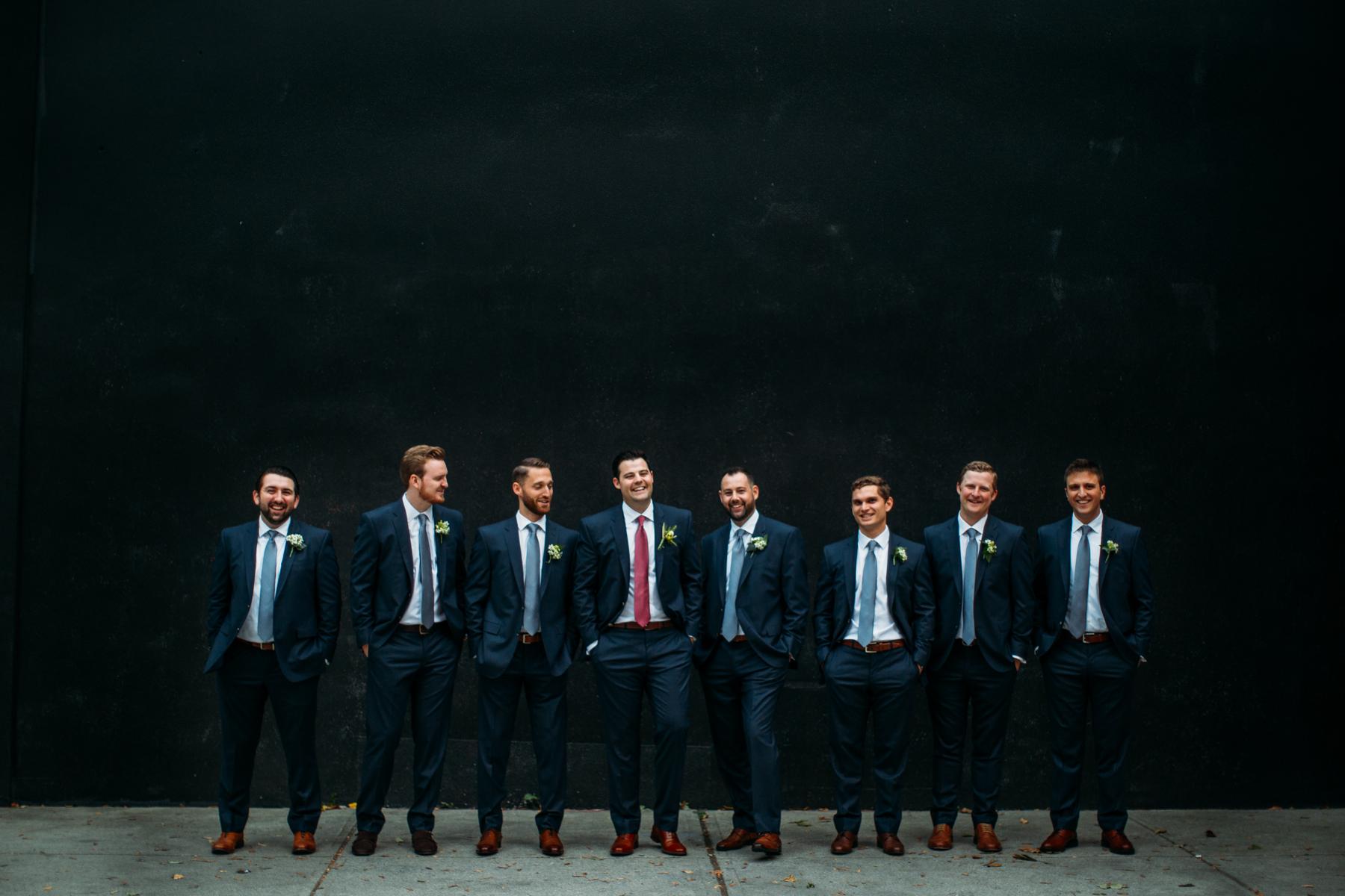 Downtown toronto wedding party portraits