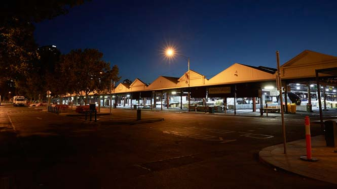 8pm Market Sheds from Queen St