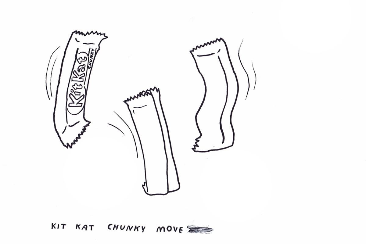Movement workshop with Gideon Obarzanek. Illustration:Kenny Pittock
