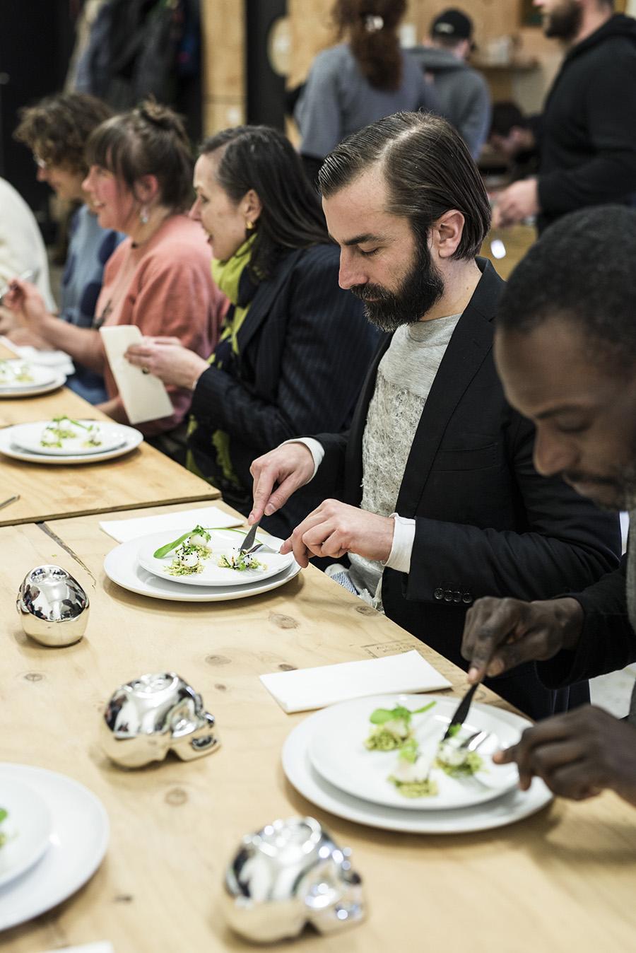 Lab participants dine. Photo: Pheobe Powell.