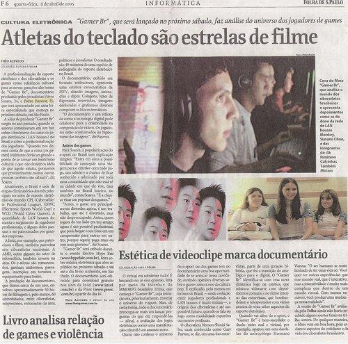 Folha de São Paulo, abril de 2005.