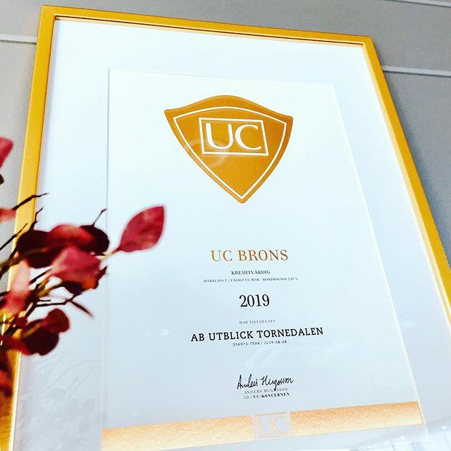Lite stolta är vi. Tilldelats brons av UC. . #kreditvärdig #restaurangutblick #uppskattning #uthålligtarbete #överlevnadsförmåga #modpassionvilja #uc #fantastiskamedarbetate #foretagarna #4av5jobb