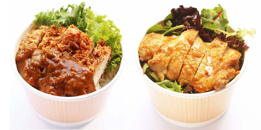 Chicken Katsu Curry Don/Teriyaki Chicken Don