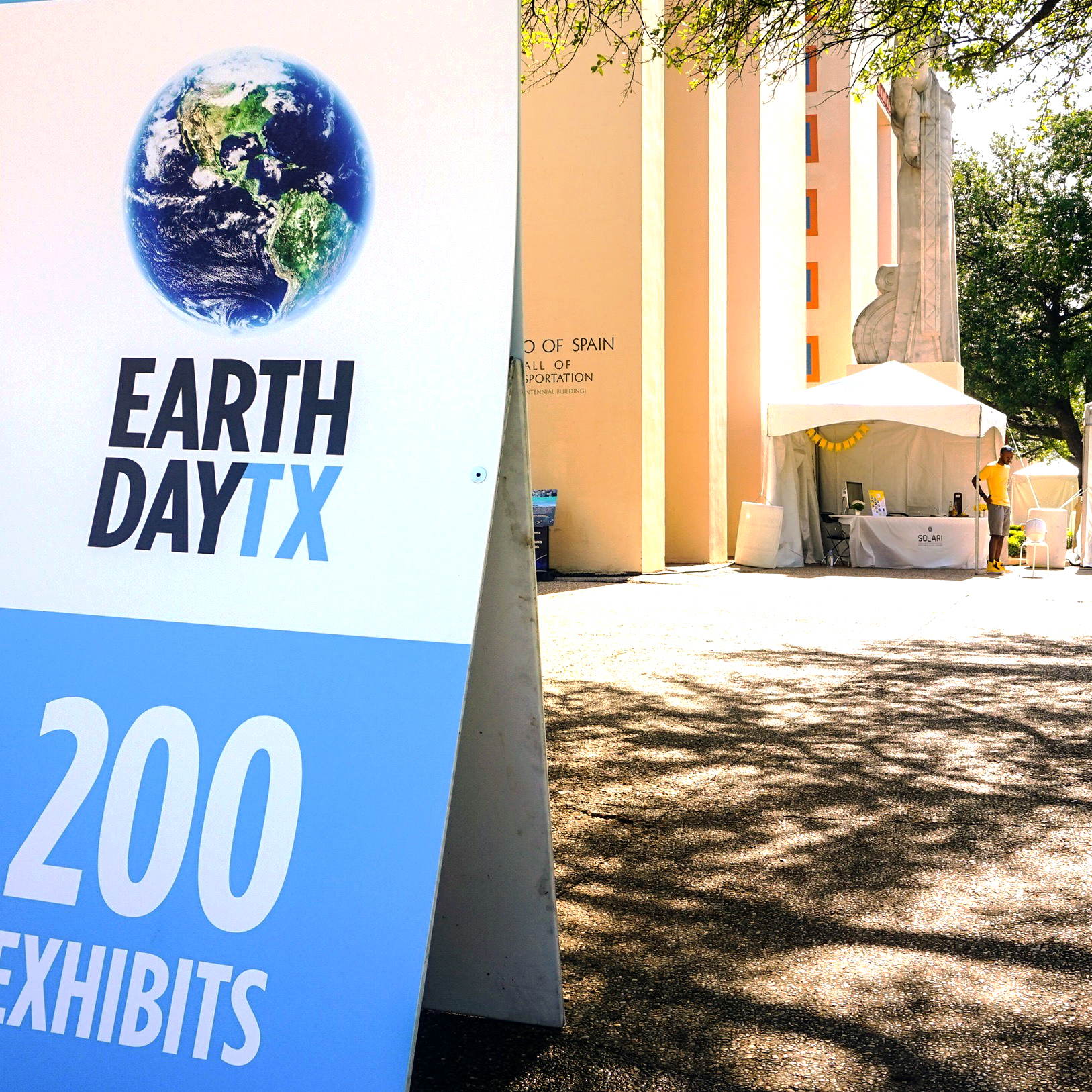 Solari's booth at earth day texas 2016 from afar