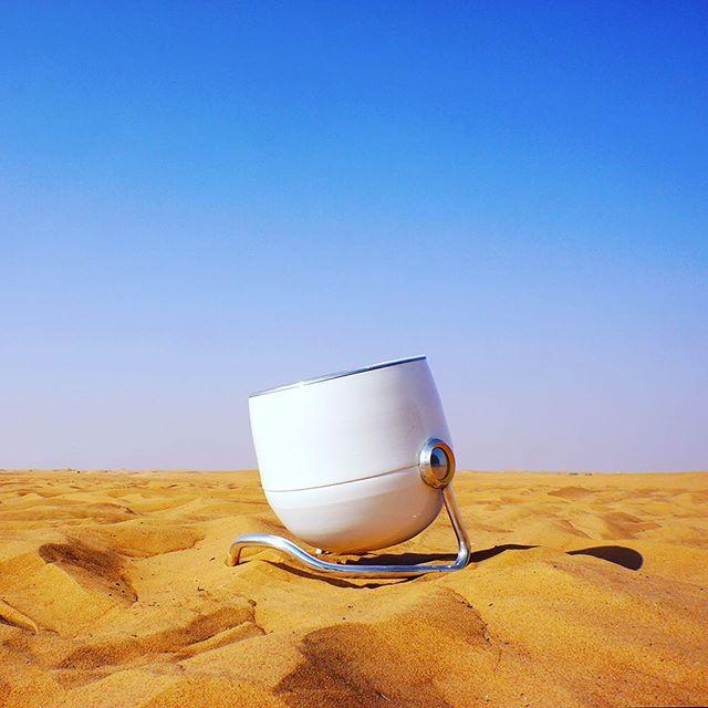 🌞🌞 Desert! No problem. Solari - portable solar cooker works anywhere there is sun. We took it out to the desert on a safari adventure in #dubai #desert #sun #sunny #sunnyday #instasun #adventure #glamping #safari #photooftheday