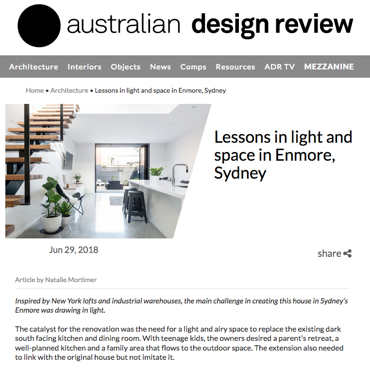 Enmore House / Australian Design Review
