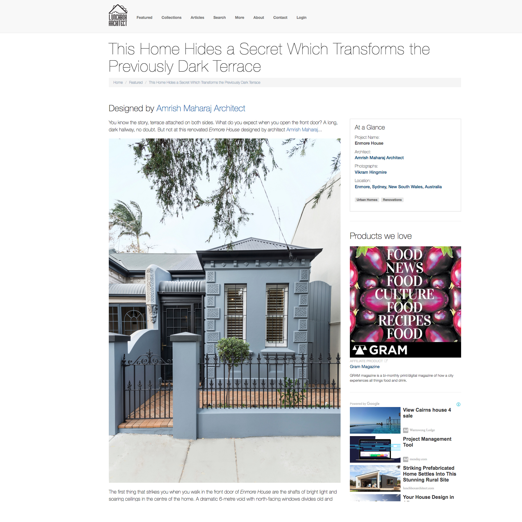 Enmore House / Lunchbox Architect