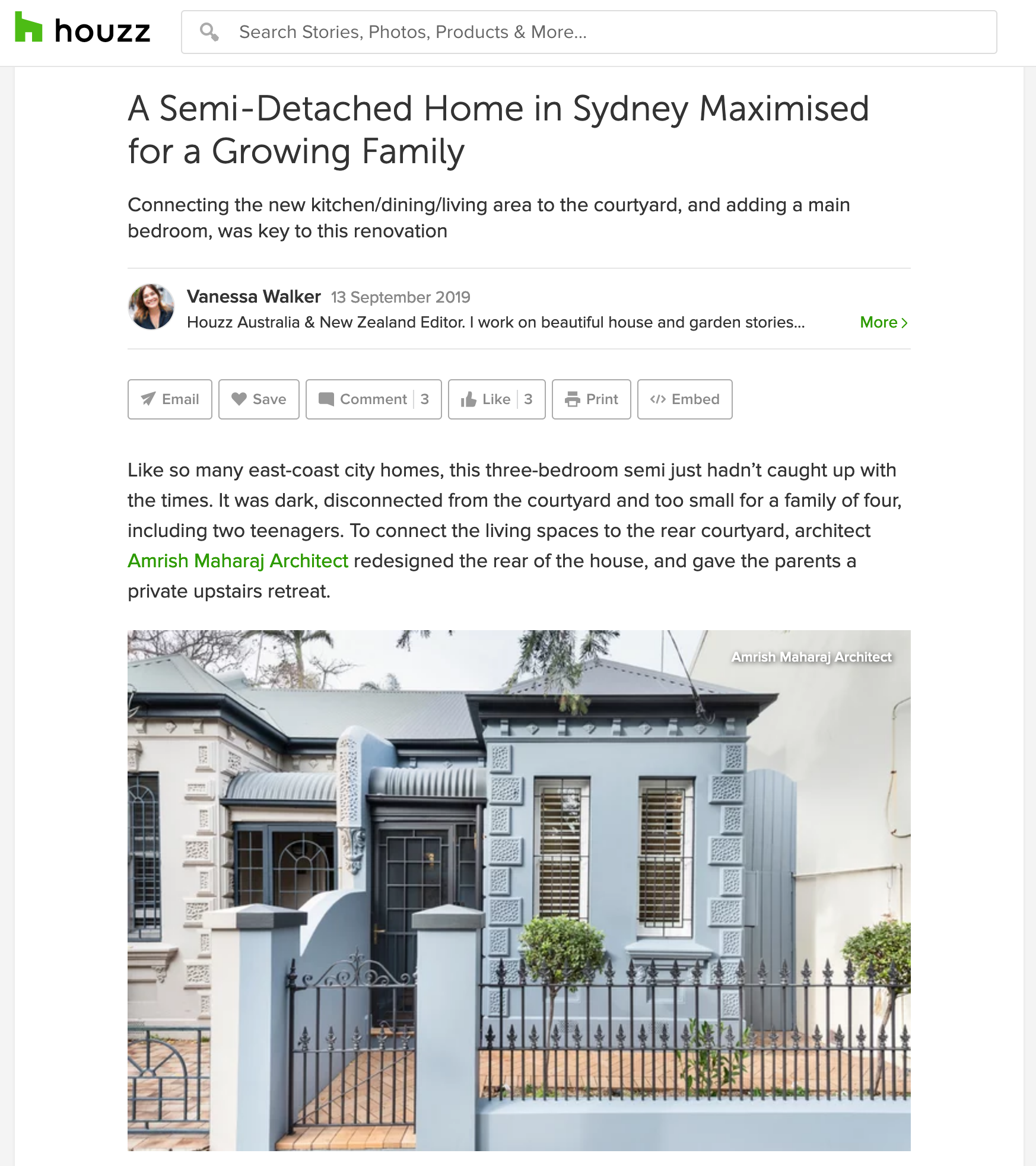 Enmore House /Houzz Project of the Week