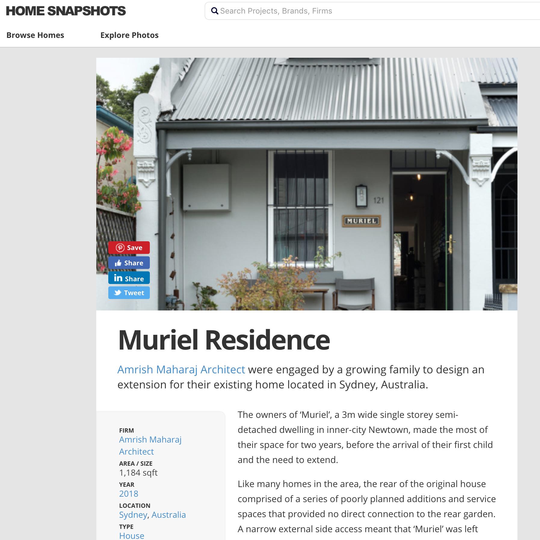 Muriel / Home Snapshot