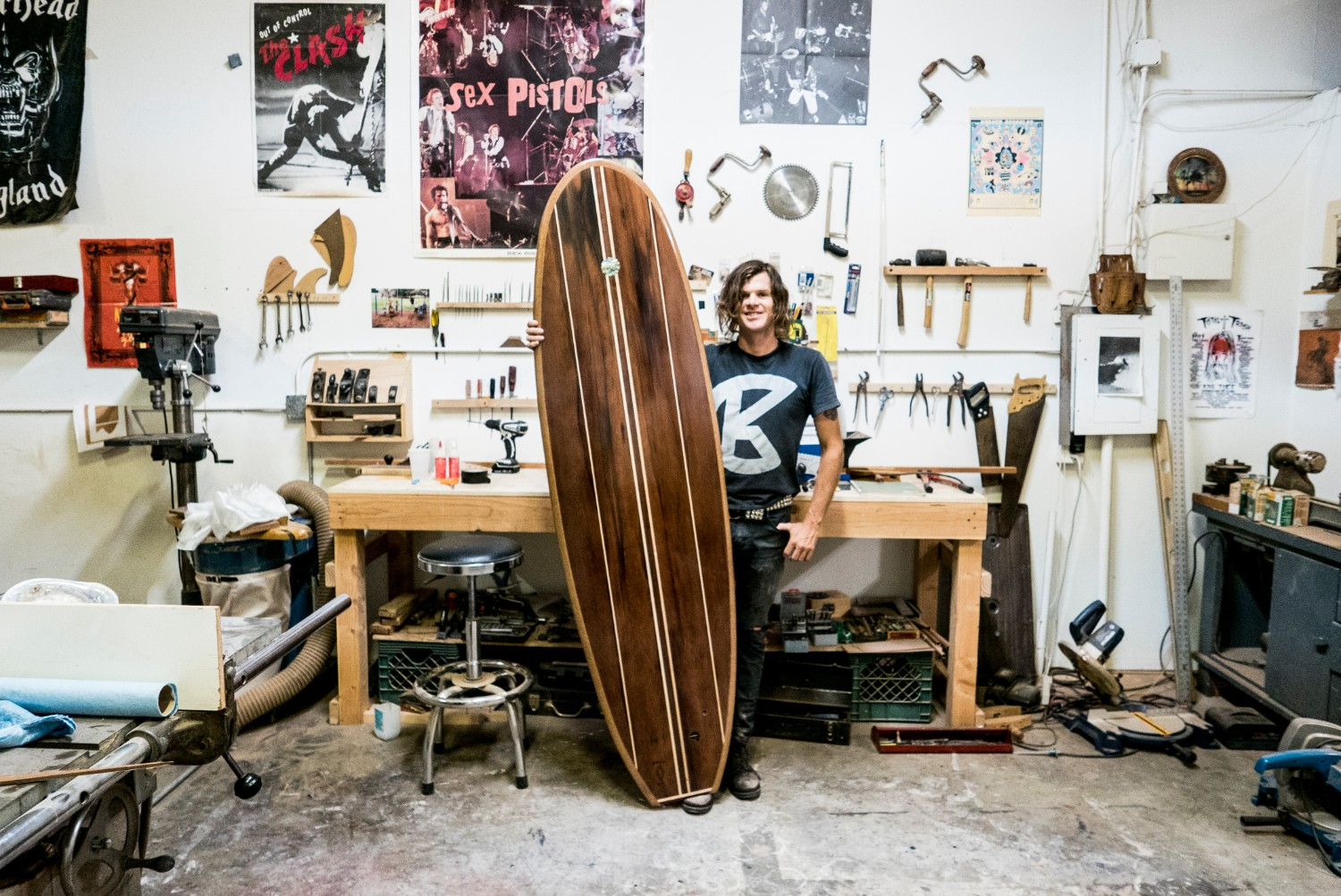 Tyler makes surfboards from disused water towers