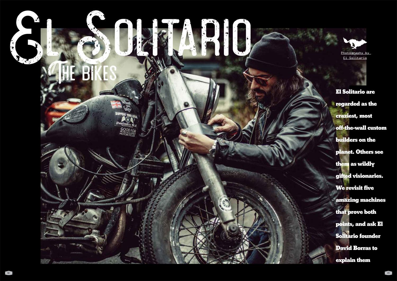 El Solitario on their madcap machines