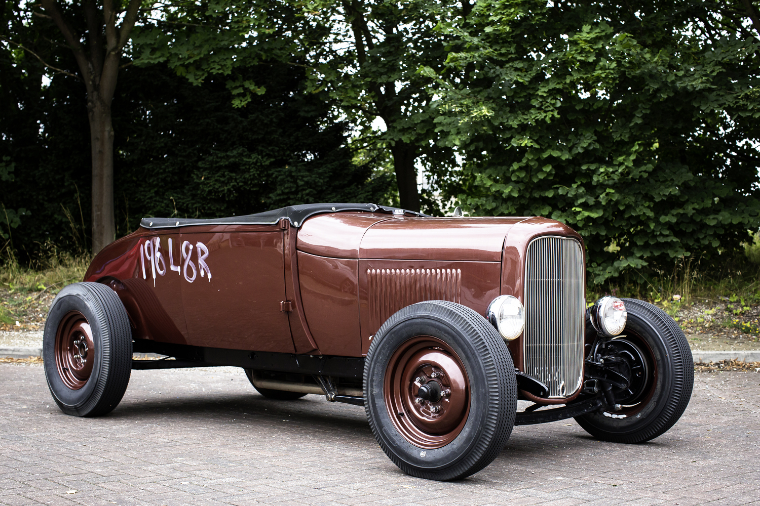 Sue, business manager, 1929 Model A Ford 1984 ex-police FLH