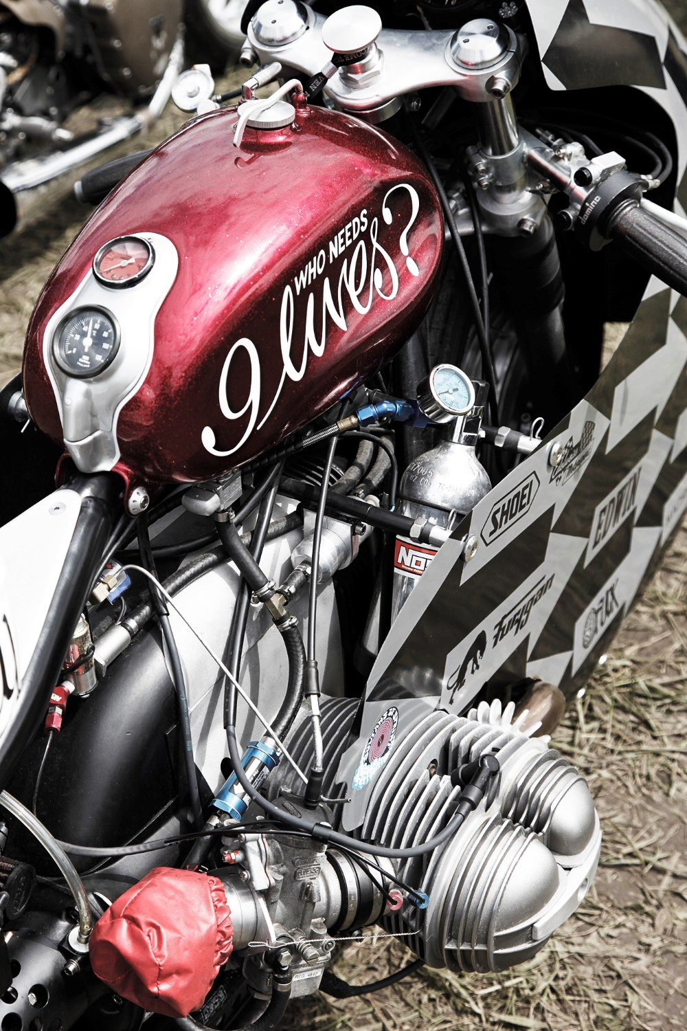 Who needs nine lives?  If you're running on nitrous oxide, most riders we imagine.