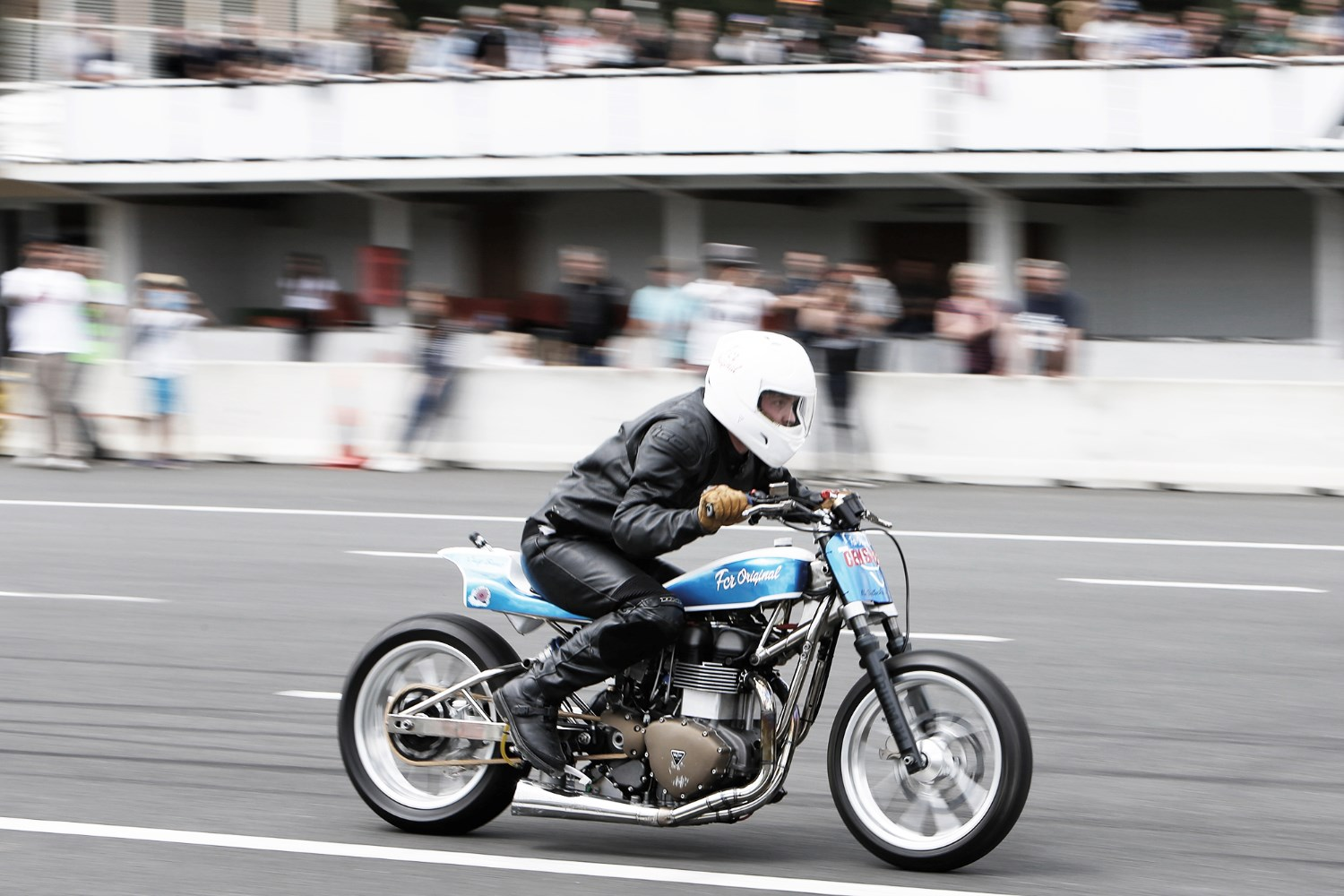 Blowing his own Trumpet  (though not blowing it up) Sebastian Guillemot screwed together Crazy Bonnie at FCR Original, where he specialises in classic and modern Triumph twins.