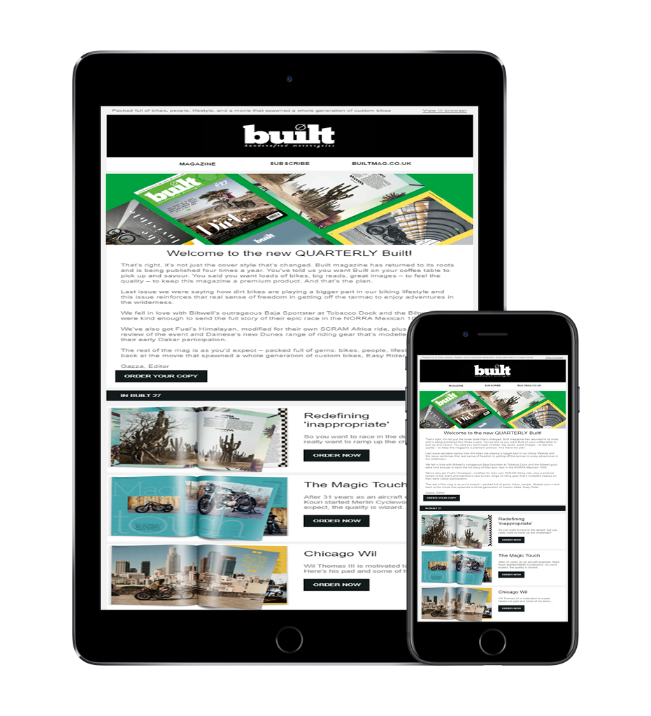 Sign-up to the Built magazine newsletter