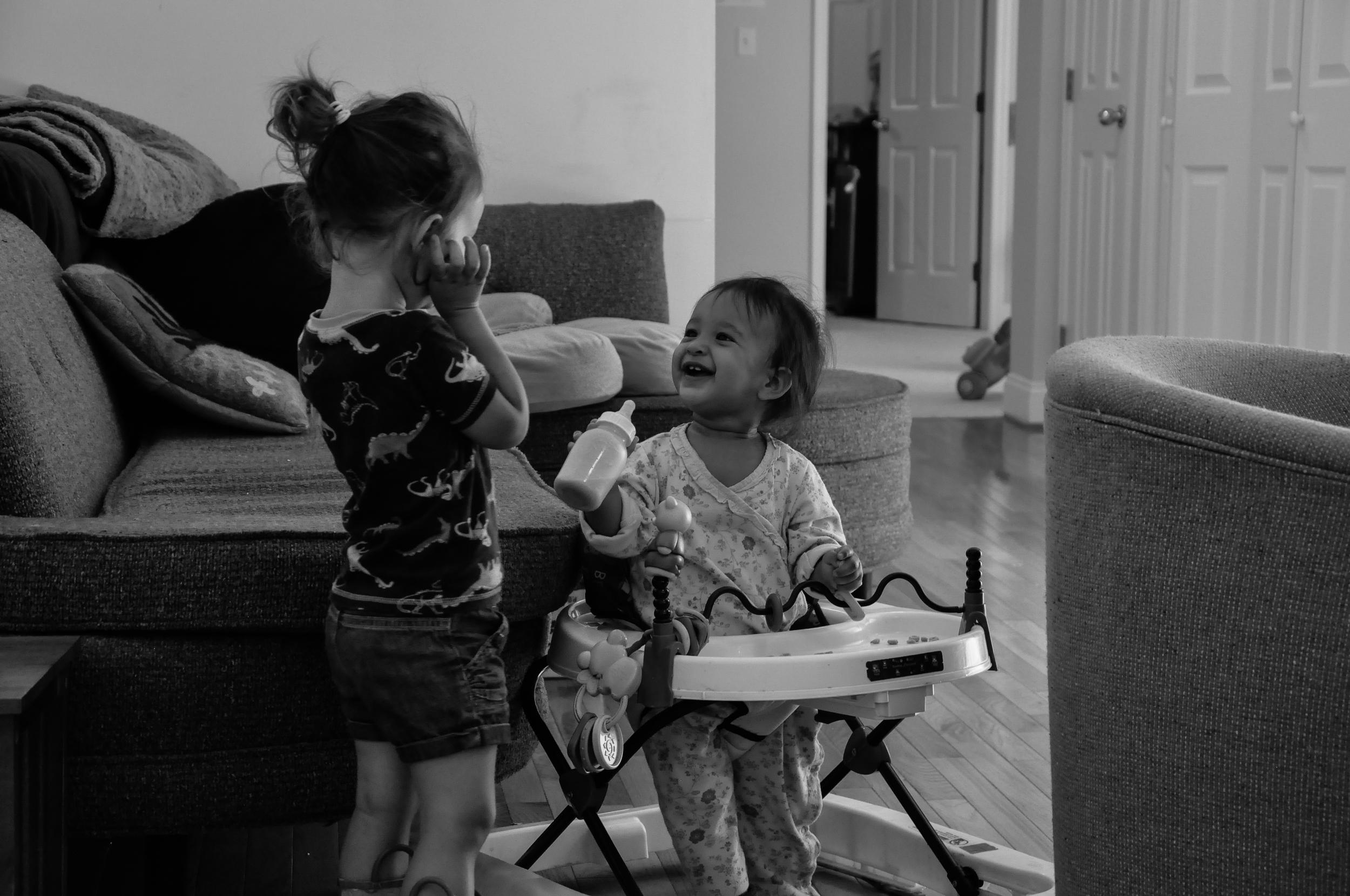 sisters playing bw.jpg