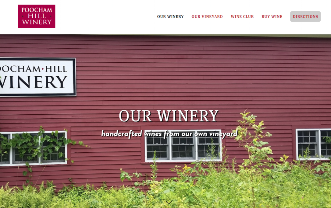 Poocham Hill Winery now open weekends through Nov 2018.