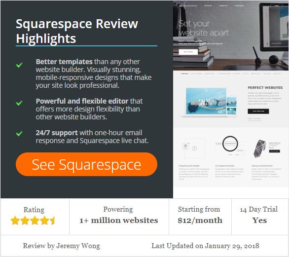 Recent Squarespace Review Article - (www.WebsiteBuilderExpert.com)