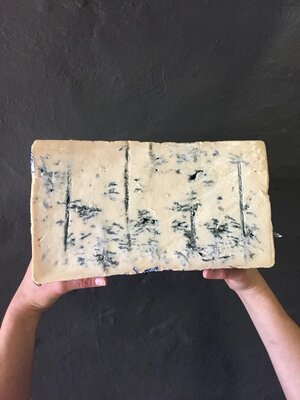 Gorgonzola Picante.  A well known Italian cheese, a relatively strong blue with a pungent, spicy bite developing early on. The finish is smooth with hints of cream and sweet milk from the lush dairy pastures of the Valsassina region.