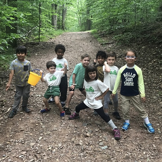 Forest Camp is a blast! Here are a few happy hikers! 💚💚💚 #forestcamp #forestschool #naturekids