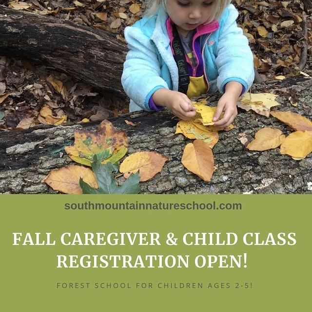 FALL Caregiver & Child registration is OPEN! Join us! #forestschool #forestschoolsinnewjersey #southmountainnatureschool #southmountainreservation #montclairnj #westorangenj #southorangenj #maplewoodnj #millburnnj #shorthillsnj