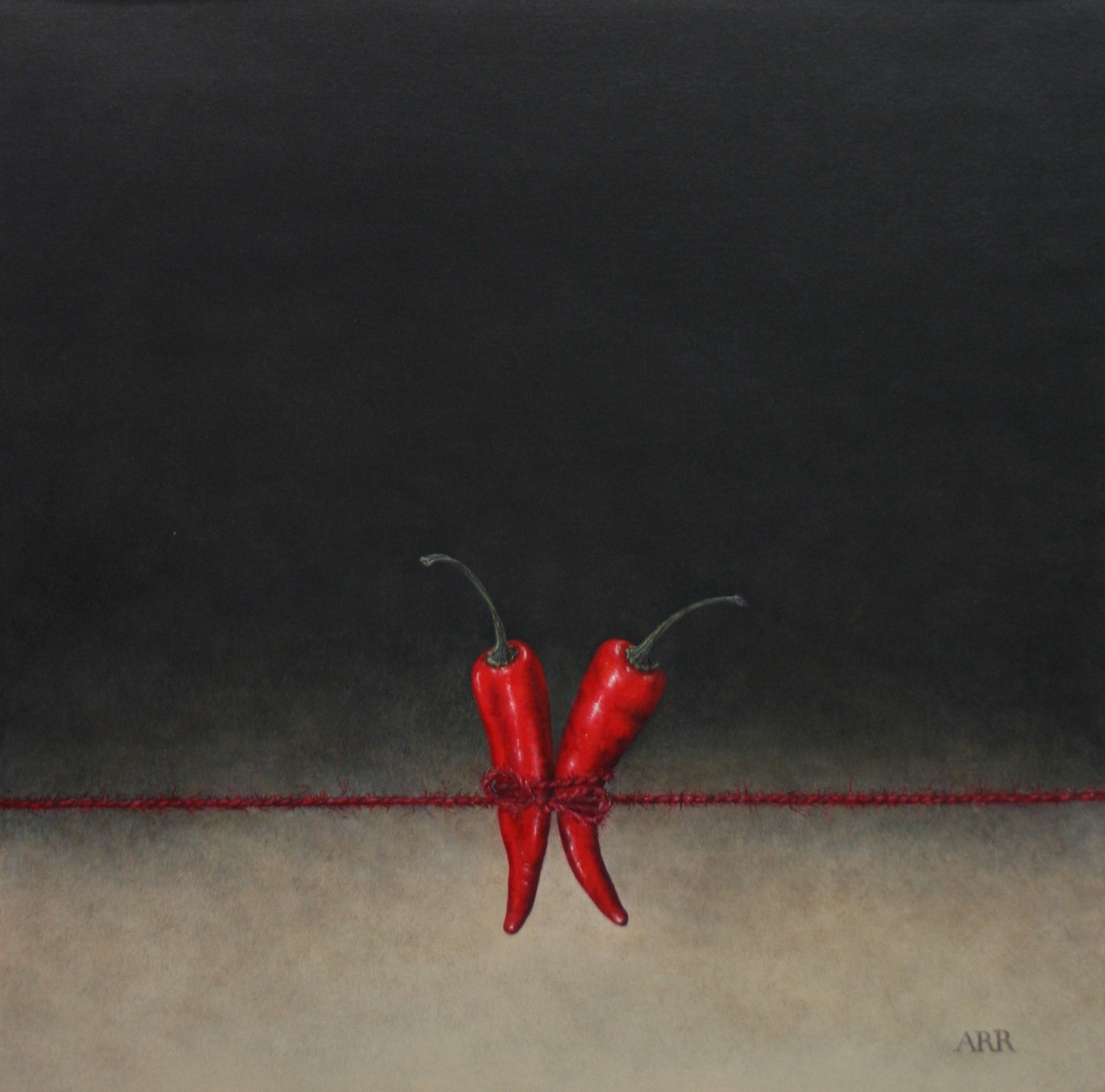 Three Chillies with Red String