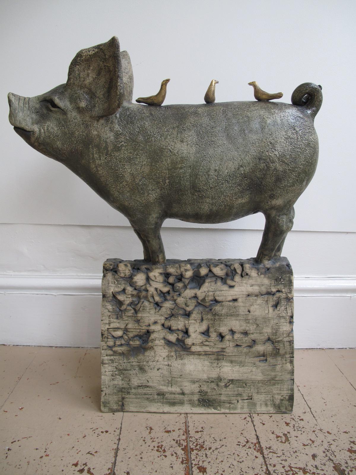 Pig with Three Gold Birds