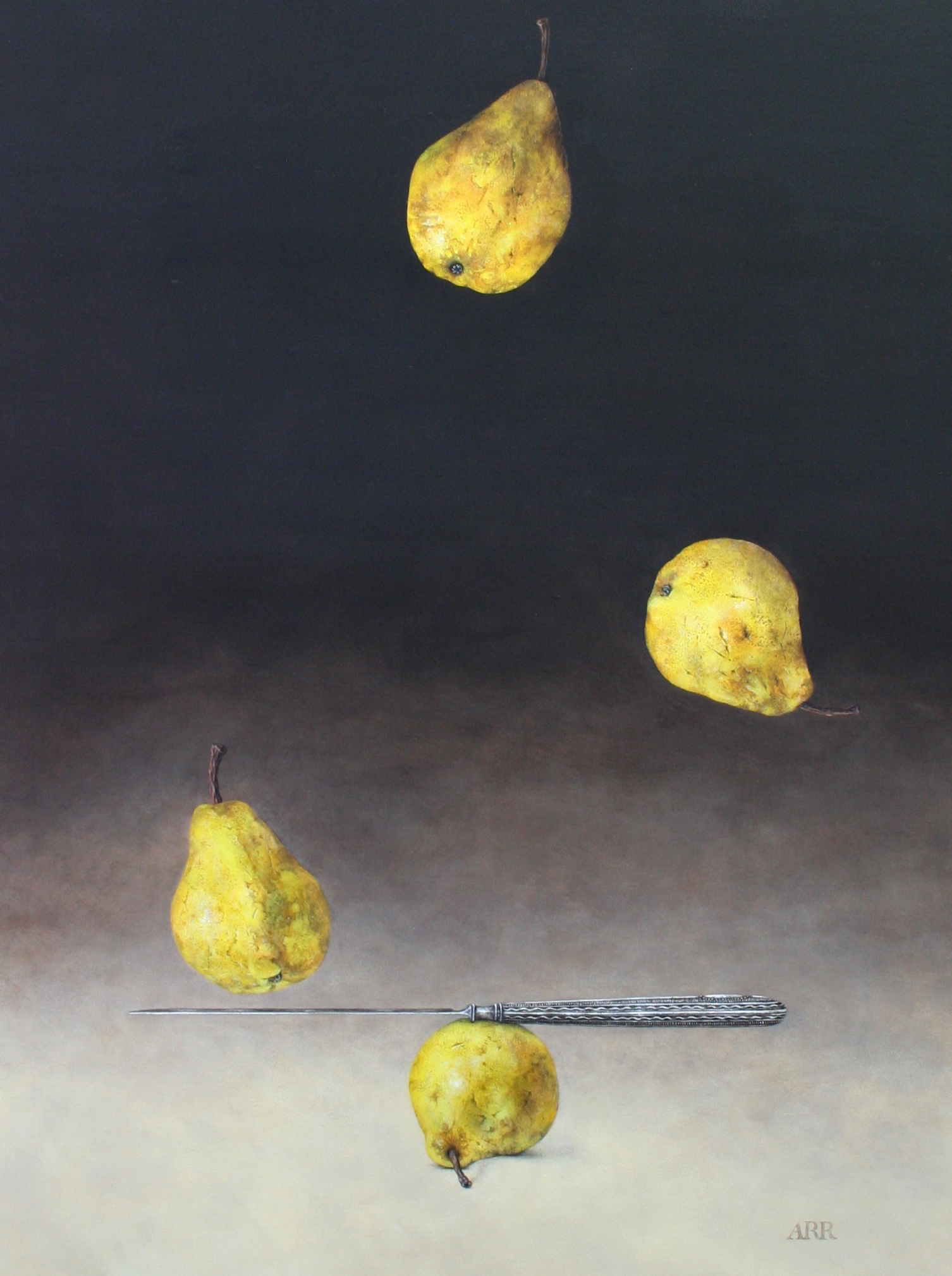 Falling Pears with Balancing Knife