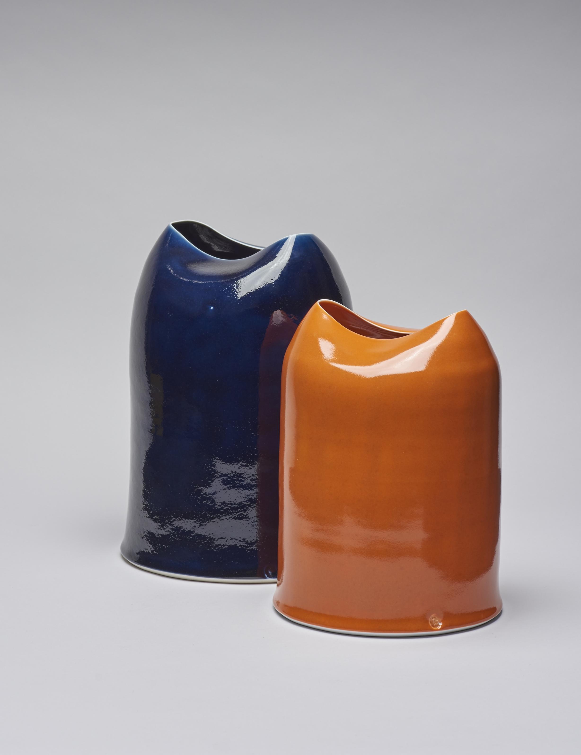 Midnight and Orange Glow Vessels