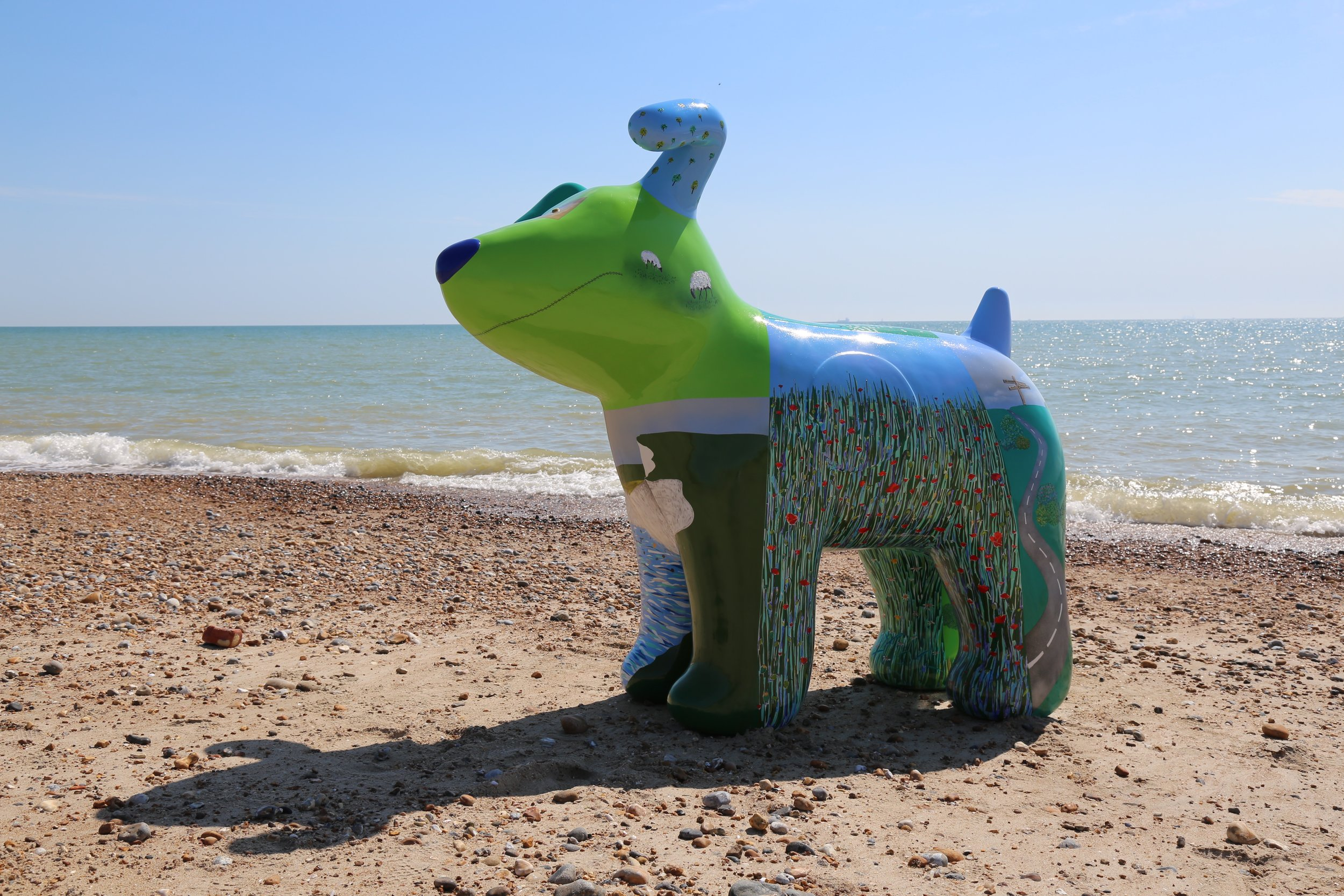 Southdowns Dog by the sea