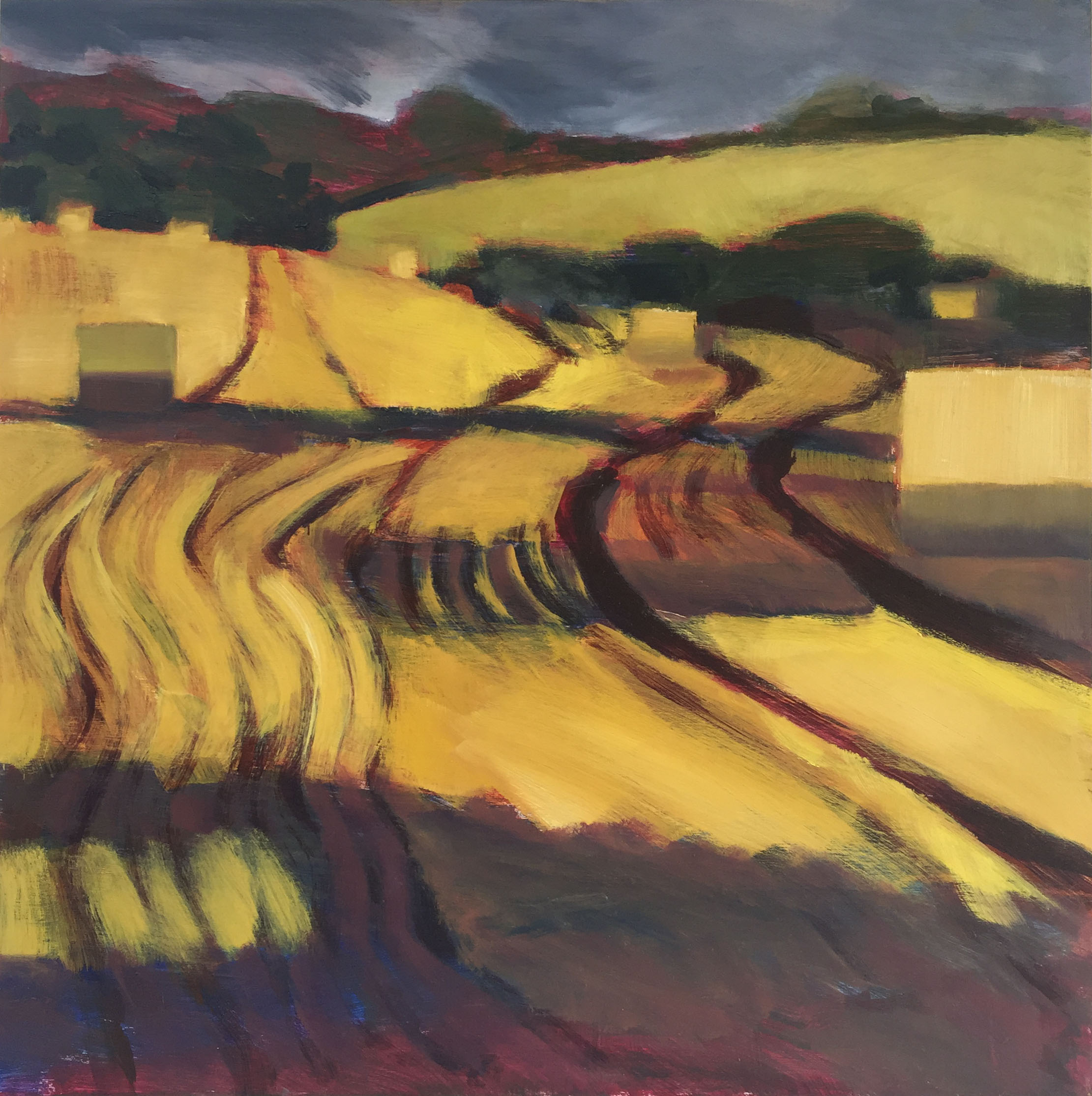 Alice Sheppard Fidler - Evening Light at Binley