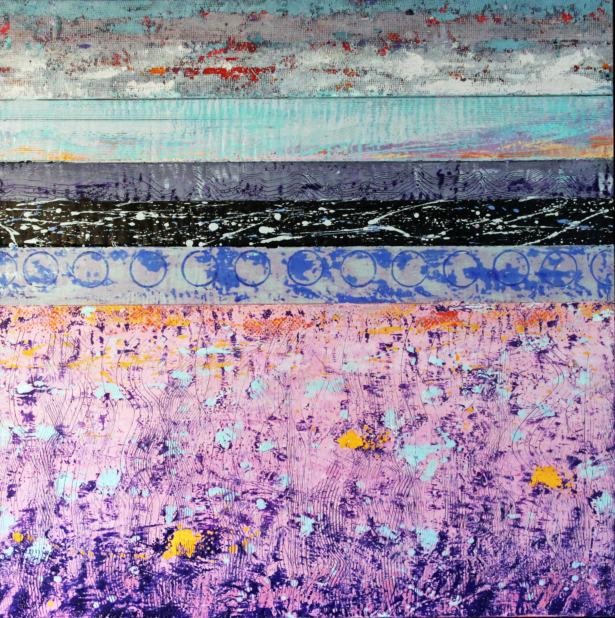 David Hayward : Sea Wall Pink Field