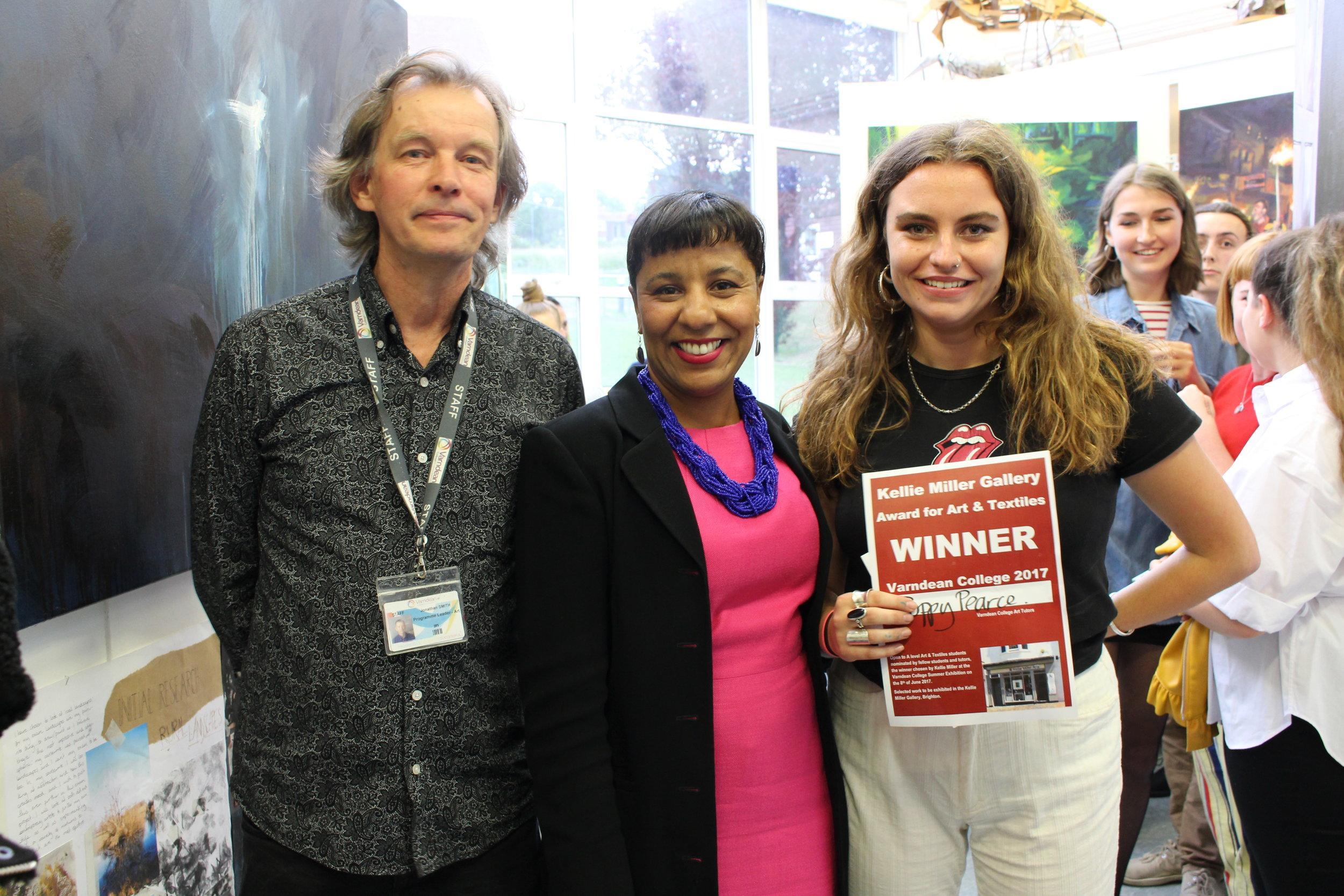 Jonathan Smith (L), Kellie Miller (C), Poppy Pearce (R)