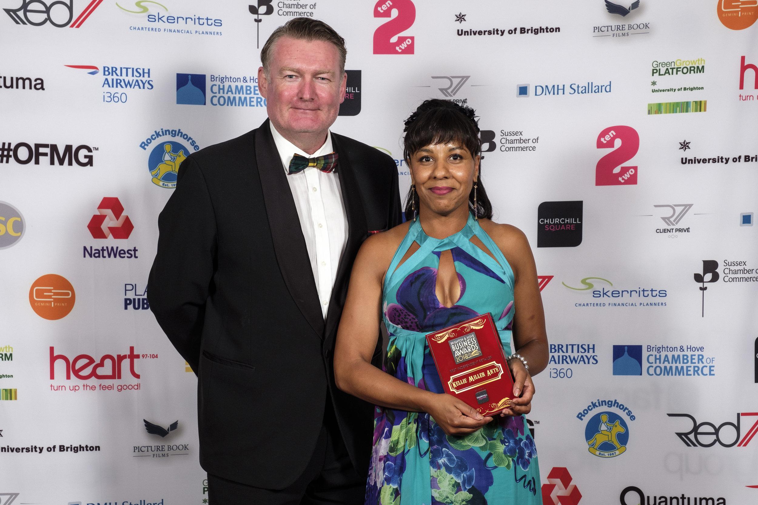 Kellie Miller and Mark Buchanan-Smith (Centre Director, Churchill Square)