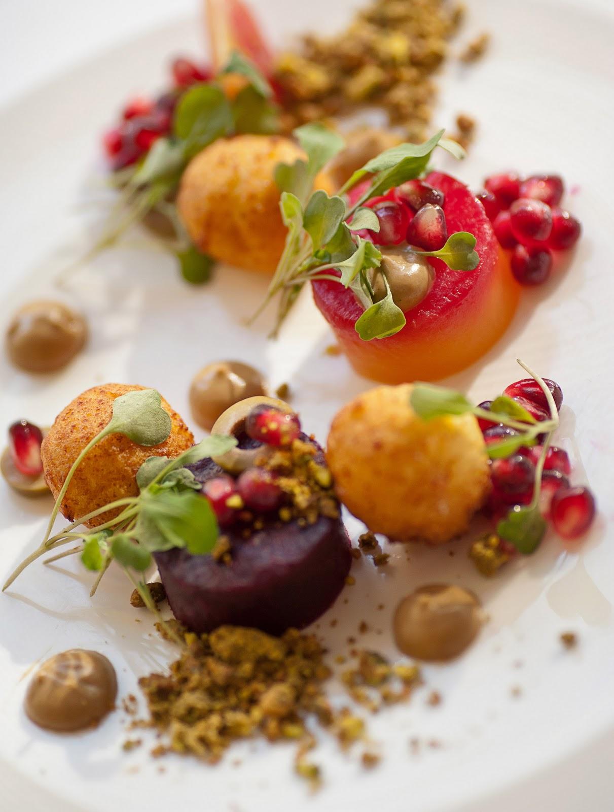 Beets, Pomegranate, Olives, Pistachio, Ricotta Beignets.jpg