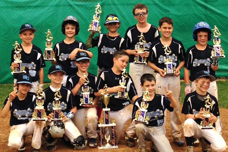 9U West Chester Dragons Baseball Team