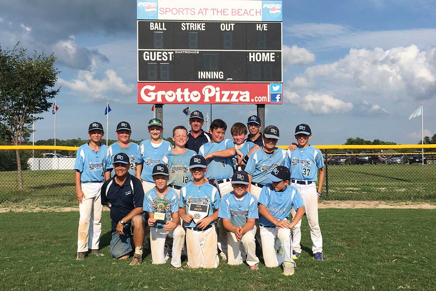 11U West Chester Dragons NL win Sports At The Beach in July 2016