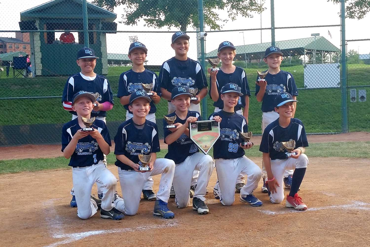 10U West Chester Dragons AL win the High Heat Tournament at The Ripken Experience Aberdeen in July 2016