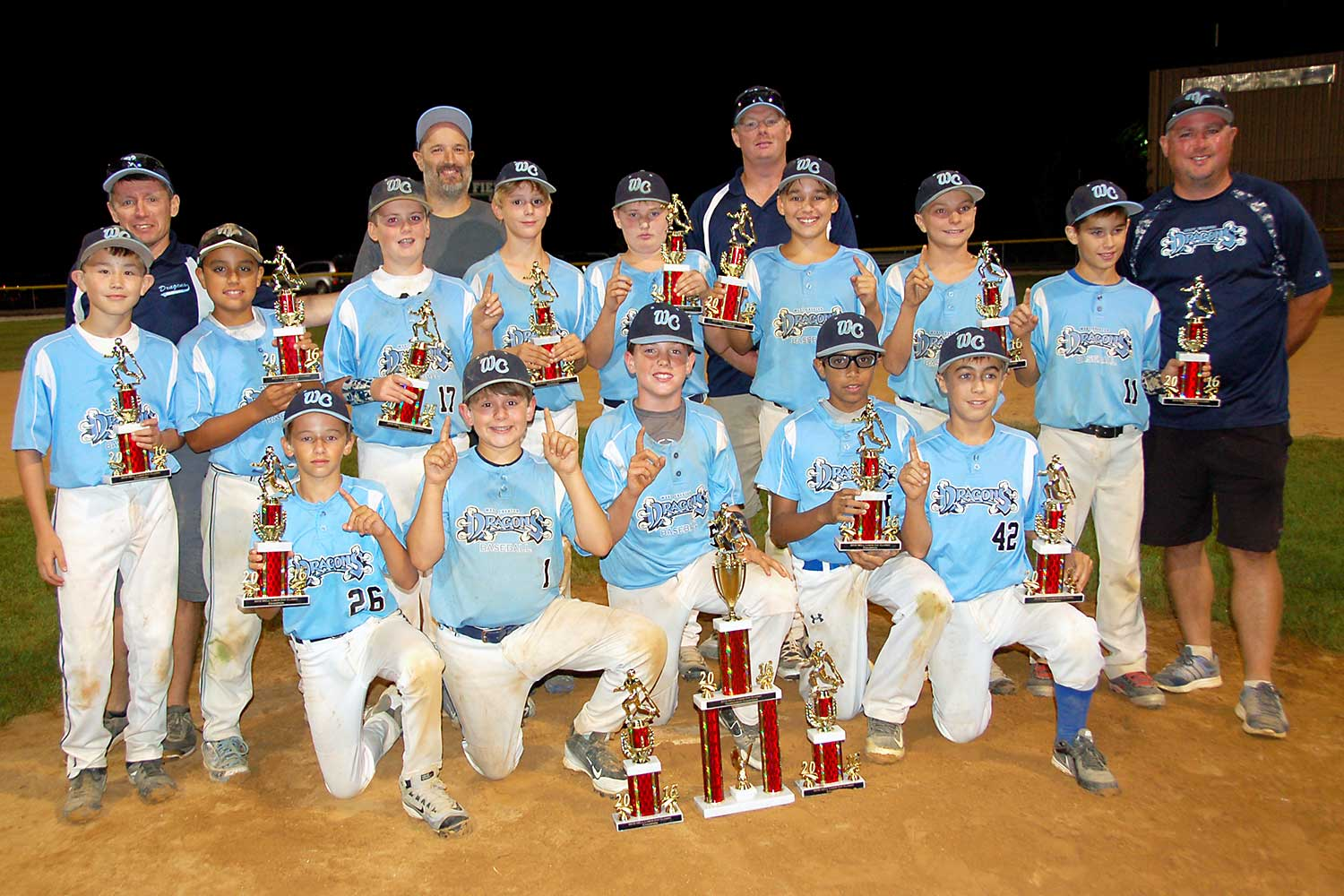 12U West Chester Dragons AL win the NELL Labor Day Classic 2016 Tournament in September 2016