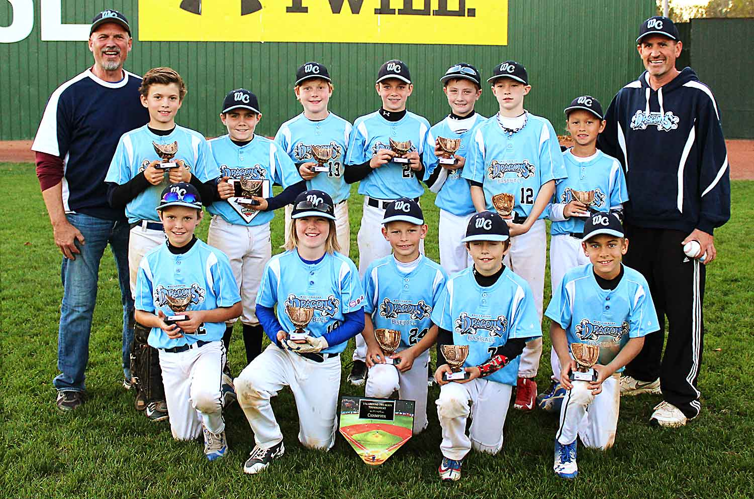 11U West Chester Dragons NL baseball team won The Ripken Experience
