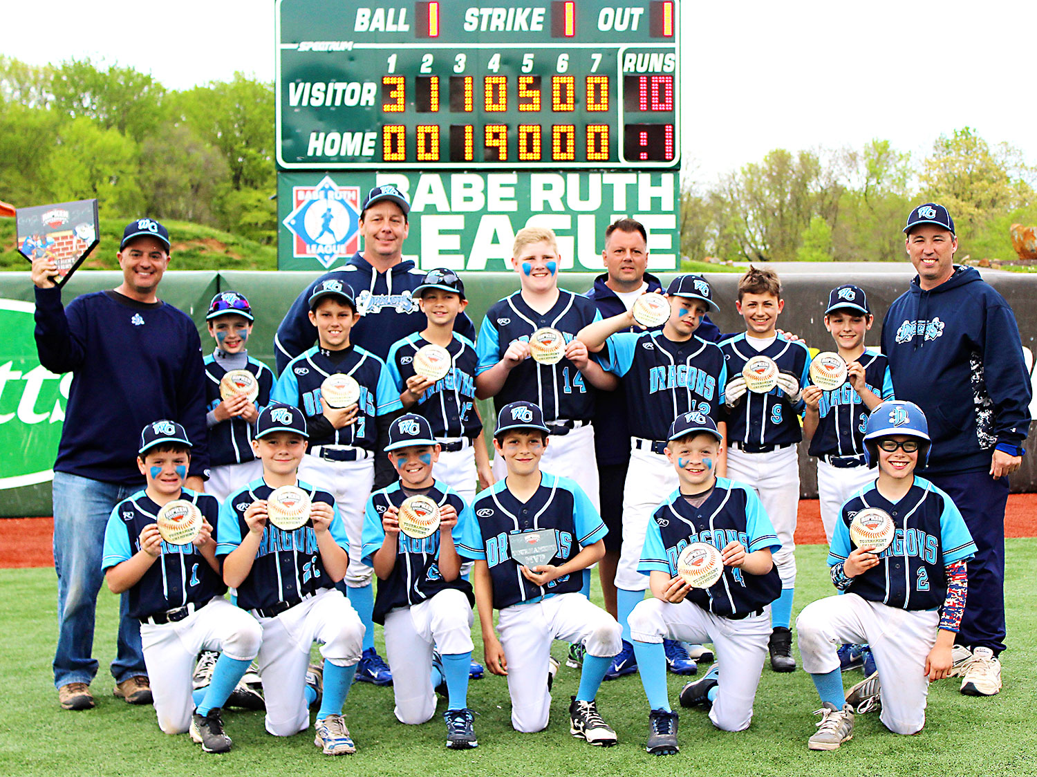 10u West Chester Dragons NL baseball teams wins The Free State Tournament 2017 at The Ripken Experience Aberdeen on April 23, 2017!
