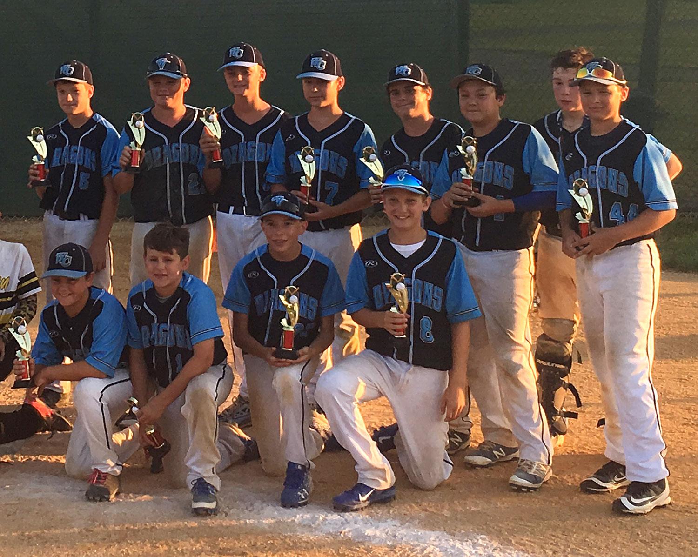 12U West Chester Dragons NL Travel Baseball Team named Runner-Up at South Jerey Warriors Summer Slam Wooden Bat Tournament