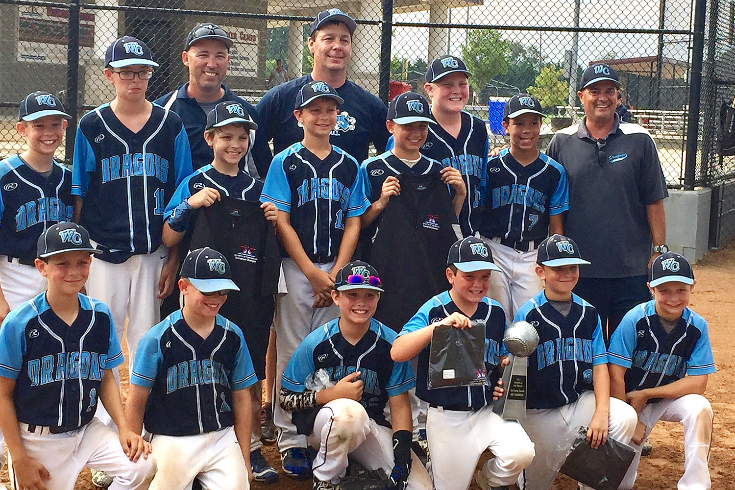 10u West Chester Dragons NL Travel Baseball won the 7th Inning Stretch Tournament 2017 at Sports At The Beach on July 21-23, 2017